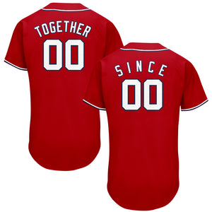 Red Together Since Baseball Jersey