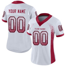 Load image into Gallery viewer, Custom White Cardinal-Black Mesh Drift Fashion Football Jersey