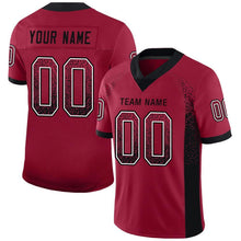 Load image into Gallery viewer, Custom Cardinal Black-White Mesh Drift Fashion Football Jersey