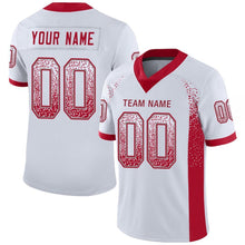Load image into Gallery viewer, Custom White Red-Gray Mesh Drift Fashion Football Jersey