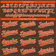 Load image into Gallery viewer, Custom Brown Orange-White Authentic Baseball Jersey