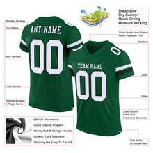 Load image into Gallery viewer, Custom Gotham Green White-Black Mesh Authentic Football Jersey