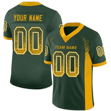 Load image into Gallery viewer, Custom Green Gold-White Mesh Drift Fashion Football Jersey