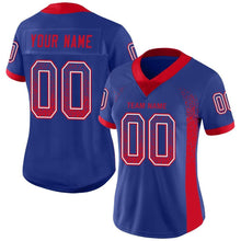 Load image into Gallery viewer, Custom Royal Scarlet-White Mesh Drift Fashion Football Jersey