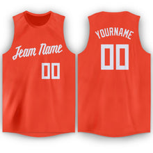 Load image into Gallery viewer, Custom Orange White Round Neck Basketball Jersey