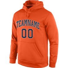 Load image into Gallery viewer, Custom Stitched Orange Navy-Gray Sports Pullover Sweatshirt Hoodie