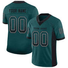 Load image into Gallery viewer, Custom Midnight Green Black-White Mesh Drift Fashion Football Jersey