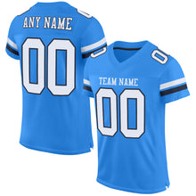 Load image into Gallery viewer, Custom Powder Blue White-Navy Mesh Authentic Football Jersey