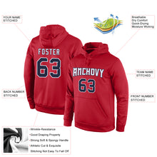 Load image into Gallery viewer, Custom Stitched Red Navy-White Sports Pullover Sweatshirt Hoodie