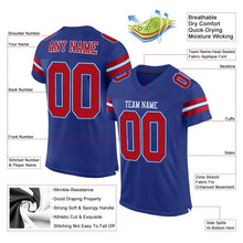 Load image into Gallery viewer, Custom Royal Red-White Mesh Authentic Football Jersey
