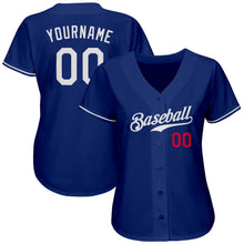 Load image into Gallery viewer, Custom Royal White-Red Authentic Baseball Jersey