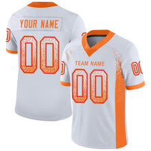 Load image into Gallery viewer, Custom White Orange-Red Mesh Drift Fashion Football Jersey