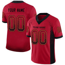 Load image into Gallery viewer, Custom Red Black-Orange Mesh Drift Fashion Football Jersey
