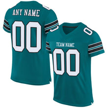 Load image into Gallery viewer, Custom Teal White-Black Mesh Authentic Football Jersey - Fcustom