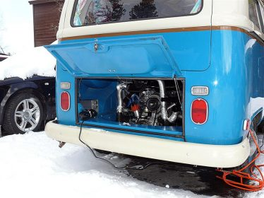 VW Bus with Xtreme Engine Compartment Heater