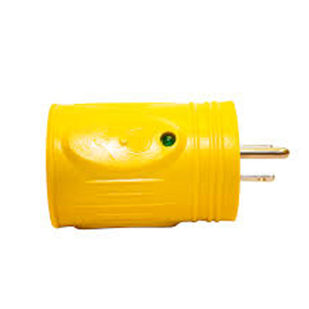Marine Plug Straight Adapter, 15A 125V Male to 30A 125V Female