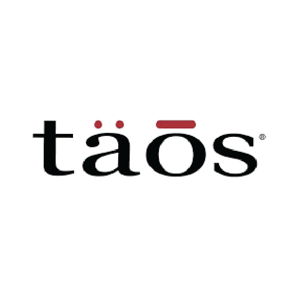 Taos Black and Red Logo