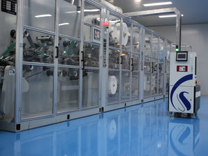 Fast face mask machine for WYZ Medical supplies, a Texas face mask maker