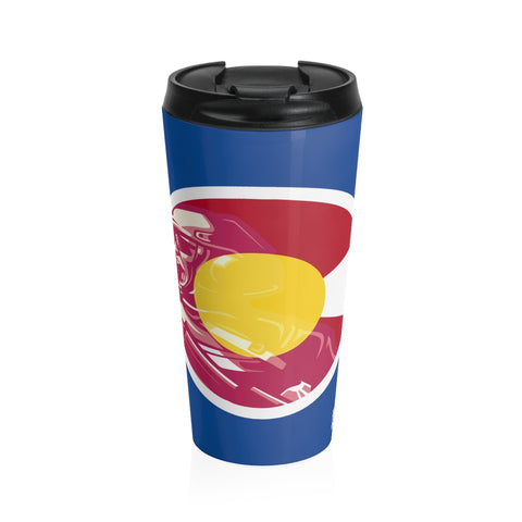 Colorado Veteran Blue Travel Tumbler