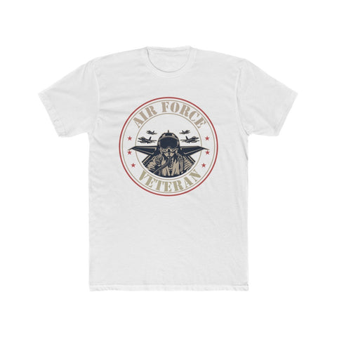 Air Force Veteran Men's Cotton Crew Tee