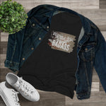 Veteran's wife badass slim fit t-shirt