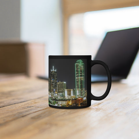 Dallas by Night Black mug 11oz