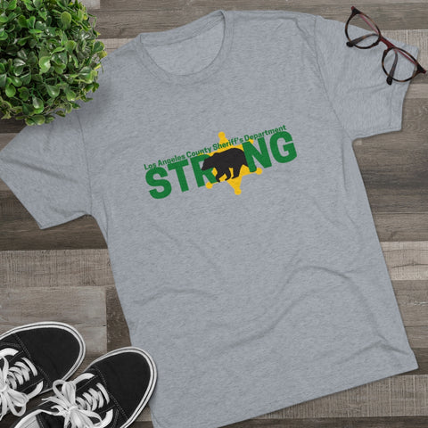 LACSD Strong with California Bear Men's Tri-Blend Crew Tee