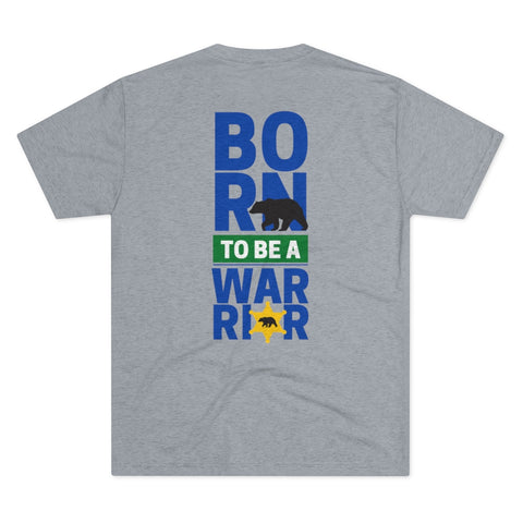 Born to be a Warrior Men's Tri-Blend Crew Tee