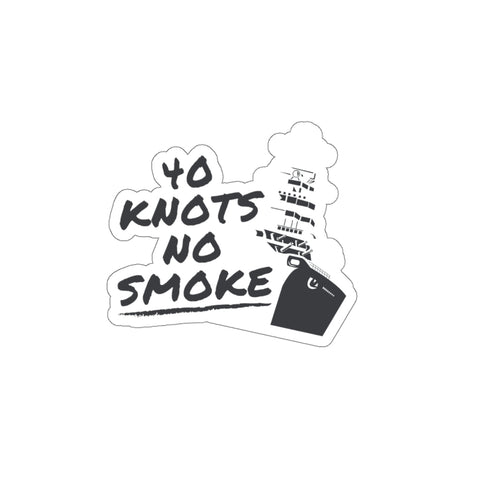 40 Knots No Smoke Sticker