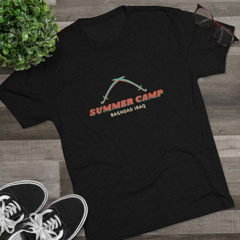 Summer Camp Baghdad Iraq Men's Tri-Blend Crew Tee