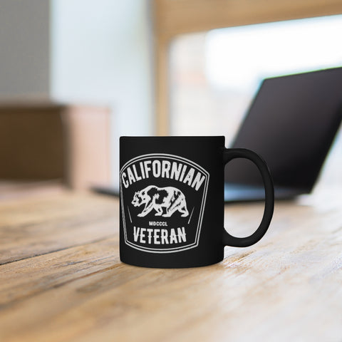 Californian Veteran Black Mug 11oz