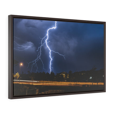Colorado Lightning Bolt (Submitted by Brian Johnson Photo) Horizontal Framed Premium Gallery Wrap Canvas