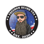 Freedom Beard USA Logo with the bearded veteran