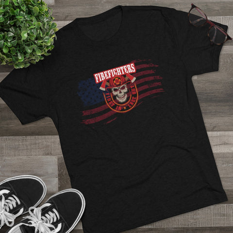 FireFighter First in Last Out Men's Tri-Blend Crew Tee