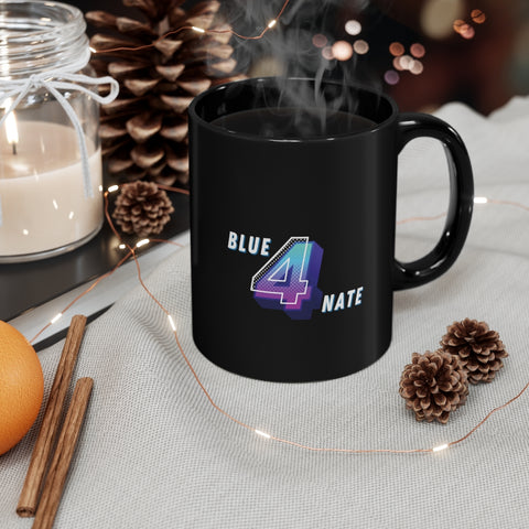 Blue 4 Nate Black mug 11oz