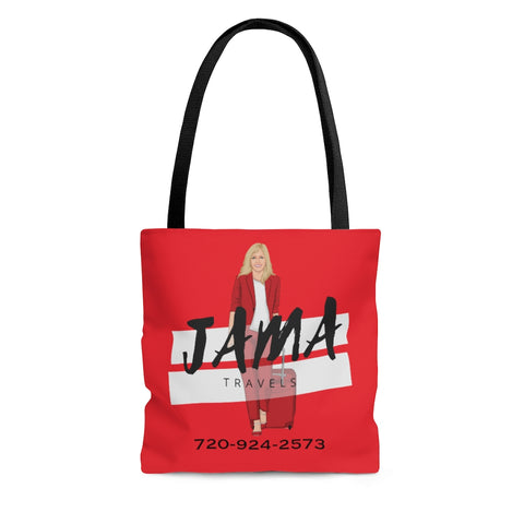 Jama Red Tote Bag