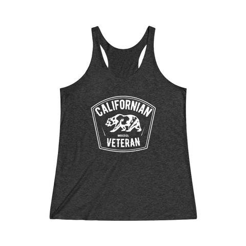 Californian Veteran Women's Tri-Blend Racerback Tank