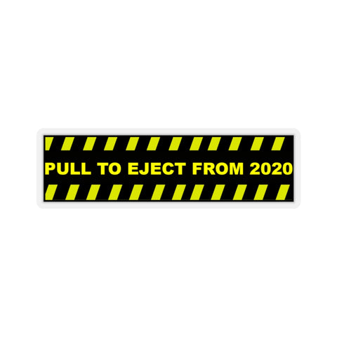 Pull to Eject Sticker