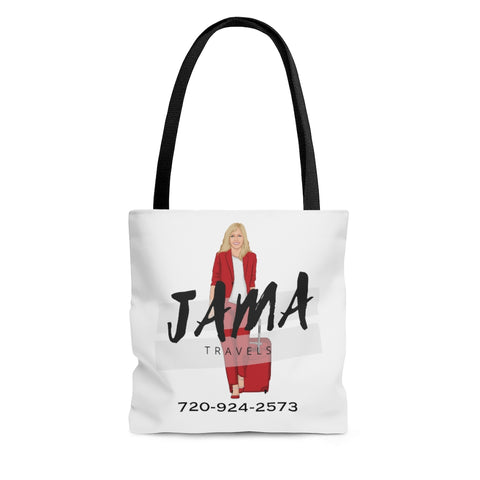 Jama White Tote Bag
