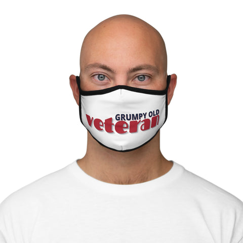 Grumpy Old Veteran Fitted Polyester Face Mask