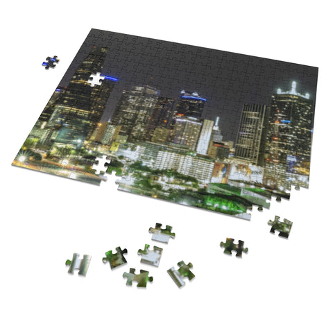 Downtown Dallas 252 Piece Puzzle