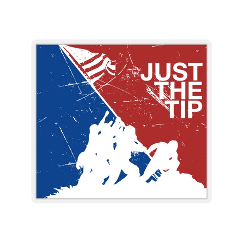 Just the Tip USMC Iwo Jima American Flag Kiss-Cut Stickers