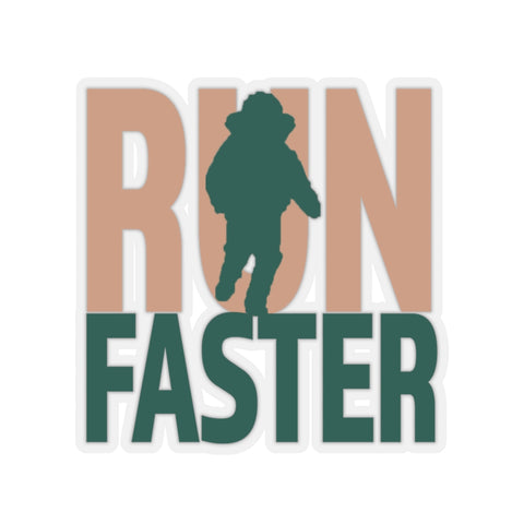 Run Faster Sticker