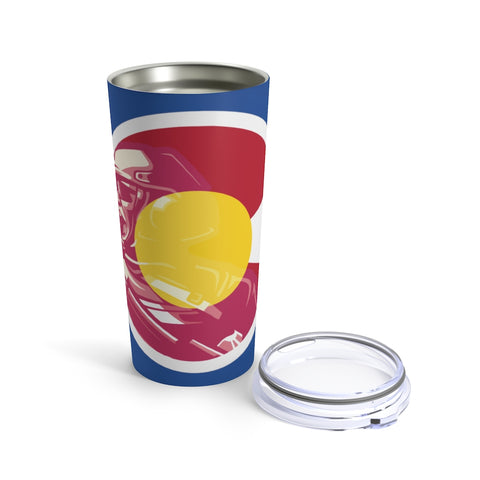 Colorado Veteran Blue Stainless Steel Tumbler