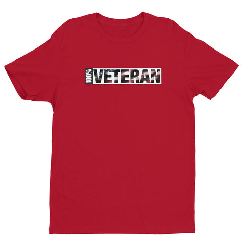 100 Percent Veteran Short Sleeve T-shirt