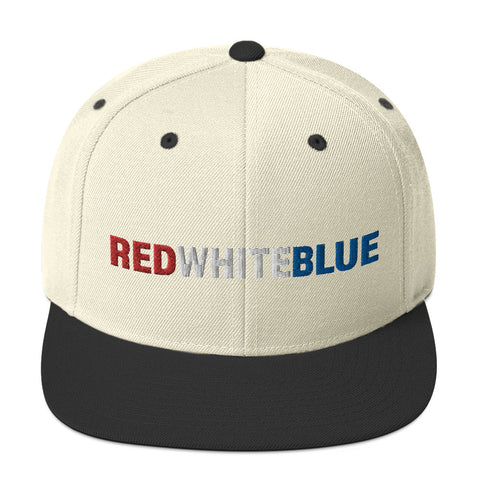 RED WHITE BLUE Snapback Hat