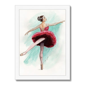 While I Breathe, I Shine Ballerina Framed Art | Wall Art | Ballerina Picture Frame | Ballerina Wall Art | Home Decor Gift - Ballet Geek