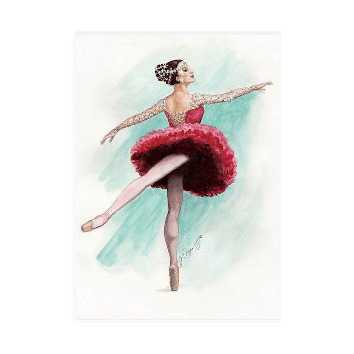 Canvas with Easel Back | While I Breathe, I Shine Ballerina on Standing Canvas | Room Decor - Ballet Geek