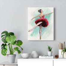Загрузить изображение в средство просмотра галереи, Canvas Gallery Wraps  Illustrated Ballerina Art | Ballet Wall Art | Home Decor | Ballet Gift - Ballet Geek