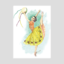 Charger l'image dans la galerie, Easel Back Canvas Ballerina art | Ballerina Print On Canvas With Easel Back | Standing Canvas | Ballet | Ballet Gift - Ballet Geek
